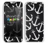 Black and White Anchor Bundle Skin For The iPhone 5c