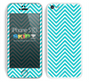 Simple Blue and White Chevron Pattern Skin For The iPhone 5c