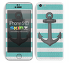 Aqua Green and Gray Anchor Skin For The iPhone 5c