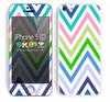 Multiple Colored Chevron Pattern V9 Print Skin For The iPhone 5c