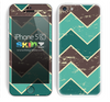 Vintage Tans Chevron Pattern V6 Skin For The iPhone 5c