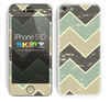 Vintage Tans Chevron Pattern V3 Skin For The iPhone 5c