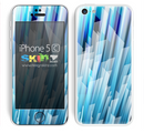Abstract Blue Streaks Skin For The iPhone 5c