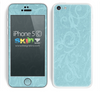 Subtle Blue Laced Floral Pattern Skin For The iPhone 5c