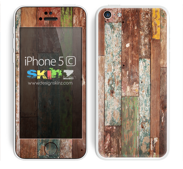 Aged Color Wood Planks Skin For The iPhone 5c