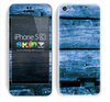 Blue Washed Wood V2 Skin For The iPhone 5c