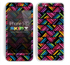 Abstract Bright Colored Chevron Skin For The iPhone 5c