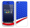 Vector American Flag Colors Skin For The iPhone 5c
