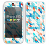 Abstract Tiled Turquoise Textured Pattern Skin For The iPhone 5c