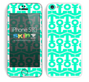 Anchor Bundle Collage Trendy Green and White Skin For The iPhone 5c
