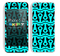 Anchor Bundle Collage Turquoise and Black Skin For The iPhone 5c