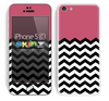Solid Subtle Pink Color and Chevron Pattern Skin For The iPhone 5c