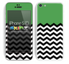 Solid Subtle Green Color and Chevron Pattern Skin For The iPhone 5c