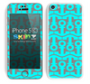 Anchor Bundle Collage Turquoise and Gray Skin For The iPhone 5c