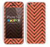 Sketched V3 Chevron Pattern Coral and Black Skin For The iPhone 5c