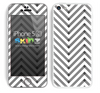 Sketched V3 Chevron Pattern White and Black Skin For The iPhone 5c