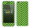Sketched V3 Chevron Pattern Subtle Green and Black Skin For The iPhone 5c