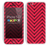 Sketched V3 Chevron Pattern Red and Black Skin For The iPhone 5c
