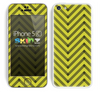 Sketched V3 Chevron Pattern Gold and Black Skin For The iPhone 5c