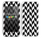Zig Zag V3 Chevron Pattern White and Black Skin For The iPhone 5c