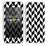 Copy of Zig Zag V3 Chevron Pattern White and Black Skin For The iPhone 5c