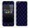 Zig Zag V3 Chevron Pattern Navy Blue and Black Skin For The iPhone 5c