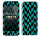 Zig Zag V3 Chevron Pattern Trendy Green and Black Skin For The iPhone 5c