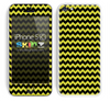 Zig Zag V2 Chevron Pattern Gold and Black Skin For The iPhone 5c