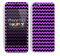 Zig Zag V2 Chevron Pattern Purple and Black Skin For The iPhone 5c