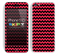 Zig Zag V2 Chevron Pattern Red and Black Skin For The iPhone 5c