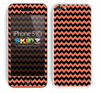 Zig Zag V2 Chevron Pattern Coral and Black Skin For The iPhone 5c