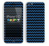 Zig Zag V2 Chevron Pattern Blue and Black Skin For The iPhone 5c