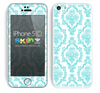 Fancy Laced Pattern Turquoise and White Skin For The iPhone 5c