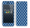 Morocan Pattern Navy Blue and White Skin For The iPhone 5c