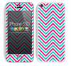 Chevron Pattern V2 Red and Blue Skin For The iPhone 5c