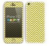 Chevron Pattern V2 Gold and White Skin For The iPhone 5c