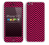 Chevron Pattern V2 Pink and Black Skin For The iPhone 5c