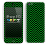 Chevron Pattern V2 Green and Black Skin For The iPhone 5c