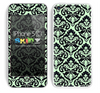 Mirrored V2 Mint and Black Skin For The iPhone 5c