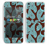 Brown and Turquoise Colored Paisley Pattern V1 Skin For The iPhone 5c