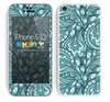 Subtle Green Colored Paisley Pattern V1 Skin For The iPhone 5c