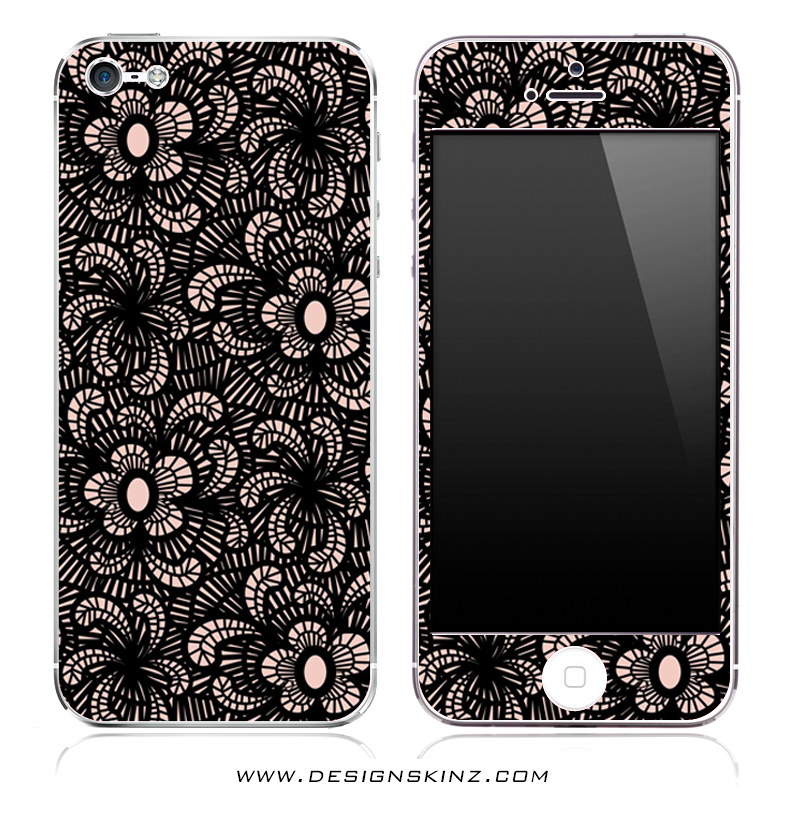 Black Lacy iPhone Skin