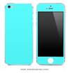 Solid Turquoise Blue iPhone Skin