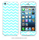 Turquoise Chevron Pattern iPhone Skin