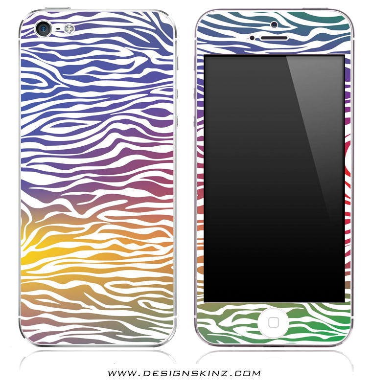 Colorful Zebra iPhone Skin