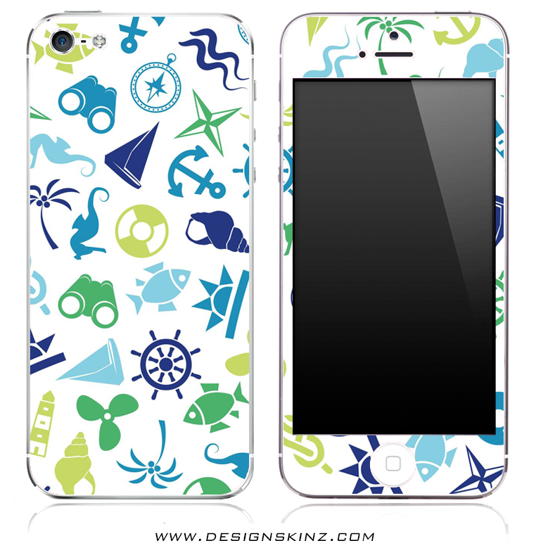 Colorful Anchor n' Such iPhone Skin
