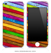 Neon Slanted Wood iPhone Skin