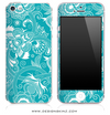 Turquoise Pattern iPhone Skin