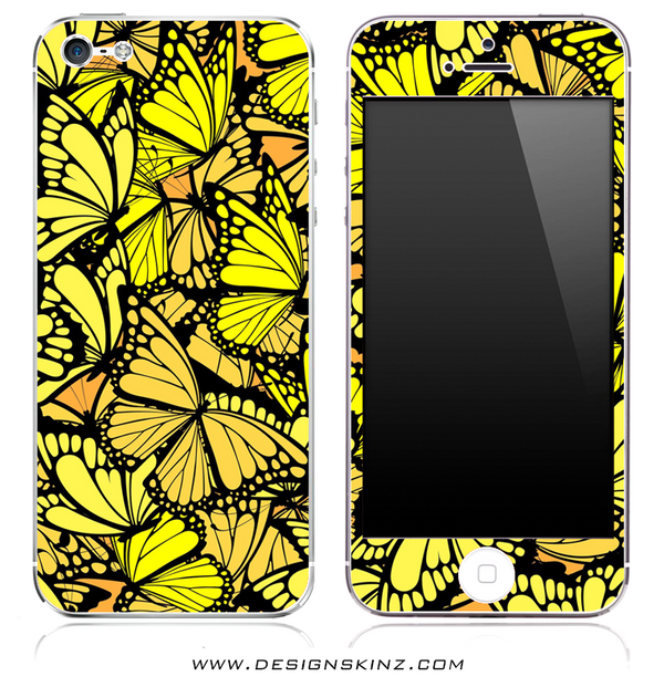 Yellow Butterfly iPhone Skin