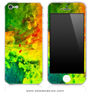 Neon Fumes iPhone Skin
